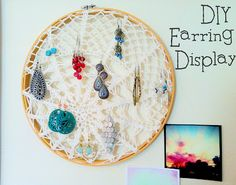 quick and easy earring display DIY