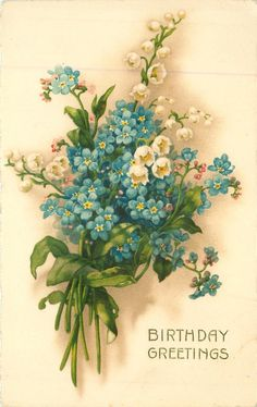 blue forget-me-nots & white lilies of the valley
