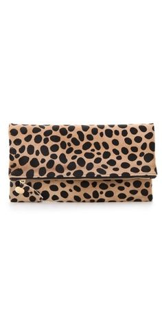 CLARE VIVIER Fold Over Haircalf Clutch | SHOPBOP | Use Code: EXTRA25 for 25% Off Sale Items
