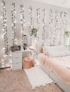 Cute Bedroom Ideas, Cute Room Decor, Room Ideas Bedroom, Bedroom Inspo, Bedroom Inspiration, Bedroom Furniture, Bedroom Wall, Furniture Design, Ikea Teen Bedroom