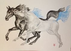 Black & Blue. Ink on paper