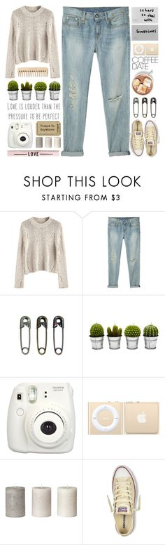 """#705 Earworm"" by mayblooms ❤ liked on Polyvore featuring R13, Tim Holtz, Billabong, The Body Shop, Fujifilm, Converse and CoffeeDate"