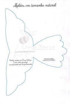 By Manu Alexandrino Artesanatos: Como Fazer Divino Espírito Santo em Feltro Felt Christmas, Christmas Angels, Christmas Crafts, Ideas Bautizo, Faith Crafts, Greeting Card Template, Angel Crafts, Fabric Birds, Felt Diy