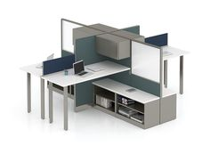 Modern design doesn't have to mean less functionality. Office Furniture Warehouse, Flexible Furniture, Cubicles, Panel Systems, Prefixes, Workspaces, Your Space, Modern Design, Home Decor