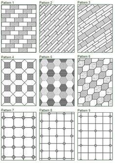 Tile Floor Patterns tile pattern Floor Tile Patterns Would Make Good Quilt Pattern