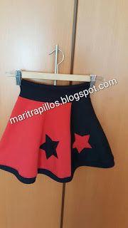 Las cosas de Mari: Falda de felpa
