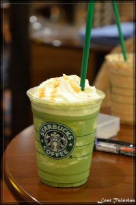 Matcha frappuccino recipe  2 teaspoons matcha 1.5 tbs sugar 1/2 cup of milk A few handfuls of ice Blend all ingredients together in a blender. You can adjust all ingredients as necessary (more ice if too thin, more milk if too thick, more sugar if you have a sweet tooth, more matcha if you like matcha)