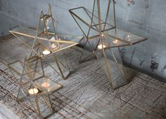 SANWI STANDING STAR These popular standing star lanterns look gorgeous alone or grouped together. They come in an antique brass finish, which makes them particularly festive for Christmas or weddings.