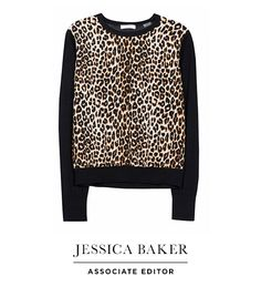 Equipment leopard sweater