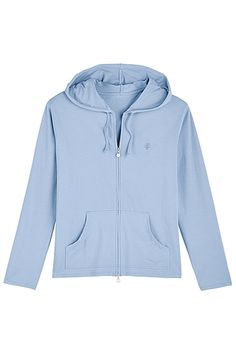 A favorite with a new twist - the zipper now goes both ways and the handy kangaroo pockets have hopped to the front. Our Seaside Hoodie still offers the quick sun coverage and lightweight fabric you love.