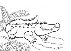 Alligator Coloring Pages To Print Out Snake Coloring Pages, Easy Coloring Pages, Online Coloring Pages, Coloring Pages To Print, Printable Coloring Pages, Coloring Sheets, Coloring Books, Crocodile Cartoon, Tattoo