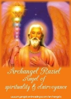 Archangel Raziel, Angel of Spirituality.  Repinned by An Angel's Touch, LLC, d/b/a WCF Commercial Green Cleaning Co., Denver's Property Cleaning Specialists.  http://angelsgreencleaning.net