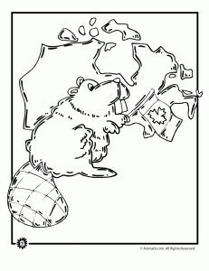 Canada Coloring Page
