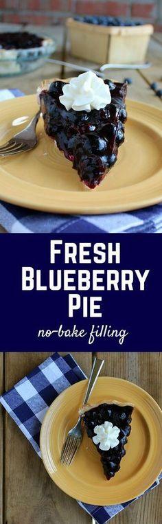 Fresh Blueberry Pie - This summertime recipe is one of my absolute favorites. The filling is no-bake! Get the easy recipe on RachelCooks.com.