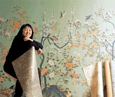 korean folk art wallpaper