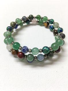 Indian Agate Beaded Bracelet Indian Agate, Agate Beads, Turquoise Bracelet, Beaded Bracelets, Wire, Jewelry, Jewlery, Jewerly, Pearl Bracelets
