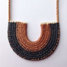 Copper&Black Yeah baby! Woven rope necklace!! Ouch Flower