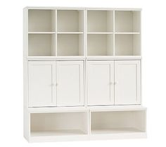 Cameron 2 Cubbies, 2 Cabinets, U0026 2 Open Bases, Simply White, UPS. Storage  SystemsStorage SolutionsWall ...