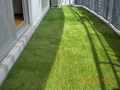 マンションのベランダに人工芝を施工しました。