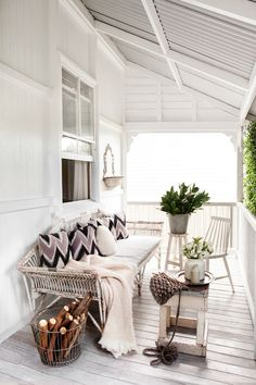 Love this white porch