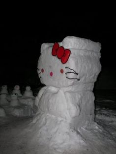 please snow, please snow, pleeeeease snow on the obx this year. I have to make this hello kitty snowman.