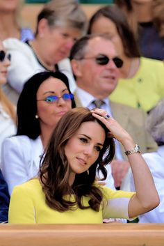 """thecambridgees: """" """" Catherine, Duchess of Cambridge attends day ten of the Wimbledon Tennis Championships at Wimbledon on July 07, 2016 in London, England. """" """""""
