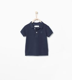 ZARA - KIDS - Crest piqué polo shirt