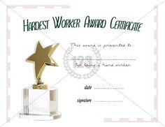 Blank Certificates Templates Free Download Classy 13 Best Award Templates Images On Pinterest  Award Certificates .