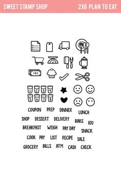 IG: https://www.instagram.com/sweetstampshop/   Plan To Eat - Sweet Stamp Shop