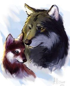 Wolves by Unicornia on DeviantArt