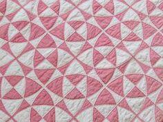 Wonderful Pattern Intricate Vintage 30s Pink White Quilt | eBay, vintageblessings
