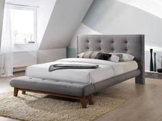 Pat Tapitat cu Stofa Sophie Grey #homedecor #interiodesign #inspiration #homedesing #decor #bedroom #beds #bedroomdecor Sophie Gray, Mattress, Minimalism, Lounge, Couch, Bedroom, Interior, Furniture, Design