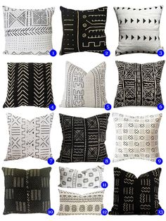 "ER Mud cloth pillows. Big new trend they say. Trend Report: This is The New ""It"" Home Accessory"