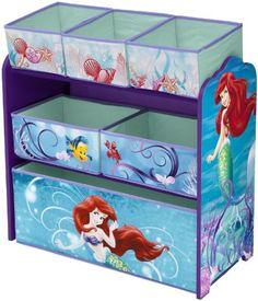 Delta Disney Little Mermaid Multi-Bin Toy Organizer: Kids' & Teen Rooms… Little Mermaid Nursery, Mermaid Room, Baby Mermaid, Disney Little Mermaids, Ariel The Little Mermaid, Disney Furniture, Funky Furniture, Furniture Design, Toy Organization