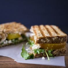 Roasted Beet and Goat Cheese Sandwich
