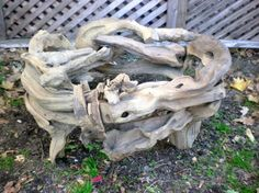 Vintage Natural Rustic Drift Wood Makes A by ReneesSecretCloset