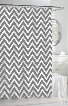 grey chevron shower curtains. Monogrammed Shower Curtain, Custom Chevron Coral And Grey,  Choose ANY Colors, Standard Or Extra Long Size, Personalized | Home Sweet Someday Grey Chevron Shower Curtains