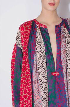 Printed cotton blouse - sonia rykiel