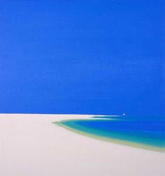 Yacht passing: John Miller Efficient style, simple lines Abstract Landscape, Landscape Paintings, Abstract Art, John Miller, Image Painting, English Artists, Water Art, Wassily Kandinsky, Beach Scenes