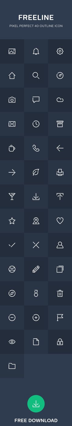 Freeline - 40 free outline icon on Behance