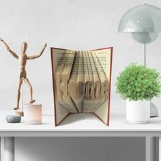 Book Folding Pattern - Home - Bookami - New Home - DIY Craft Kit - Home Decor - Instant Download - Book Art - Recycled Books