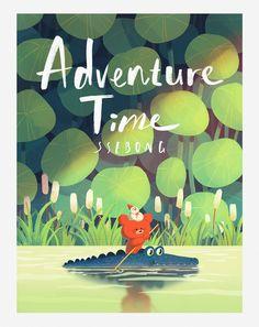 Ssebong Kim on Behance Art And Illustration, Illustration Inspiration, Illustrations And Posters, Character Illustration, Arte Indie, Book Cover Art, Adventure Time, Adventure Tattoo, Adventure Couple
