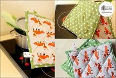Nähanleitung - Topflappen für Kinderküche
