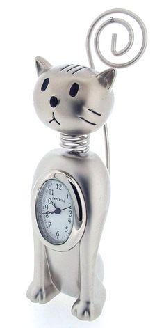 Sitting Cat Clock Card Holder