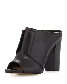 neiman marcus evie leather mule