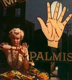 One of my favorite pics of Marilyn as a palm reader