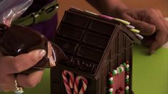 GINGERBREAD HOUSE~DECORATE YOUR CHOCOLATE HOUSE Video 3 of 3