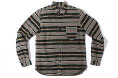 Comme DES Garcons Homme Stripe Blanket Wool Shirt