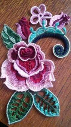 How to Crochet the Modified Daisy Stitch Col Crochet, Irish Crochet Patterns, Crochet Diagram, Freeform Crochet, Crochet Art, Thread Crochet, Crochet Doilies, Crochet Flowers, Rose Patterns