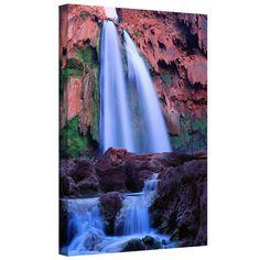 ArtWall Dean Uhlinger 'Havasu Falls Dusk' Gallery-wrapped